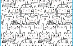 Find And Color The Winter Cats – Your Therapy Source – Free Printable Visual Puzzles