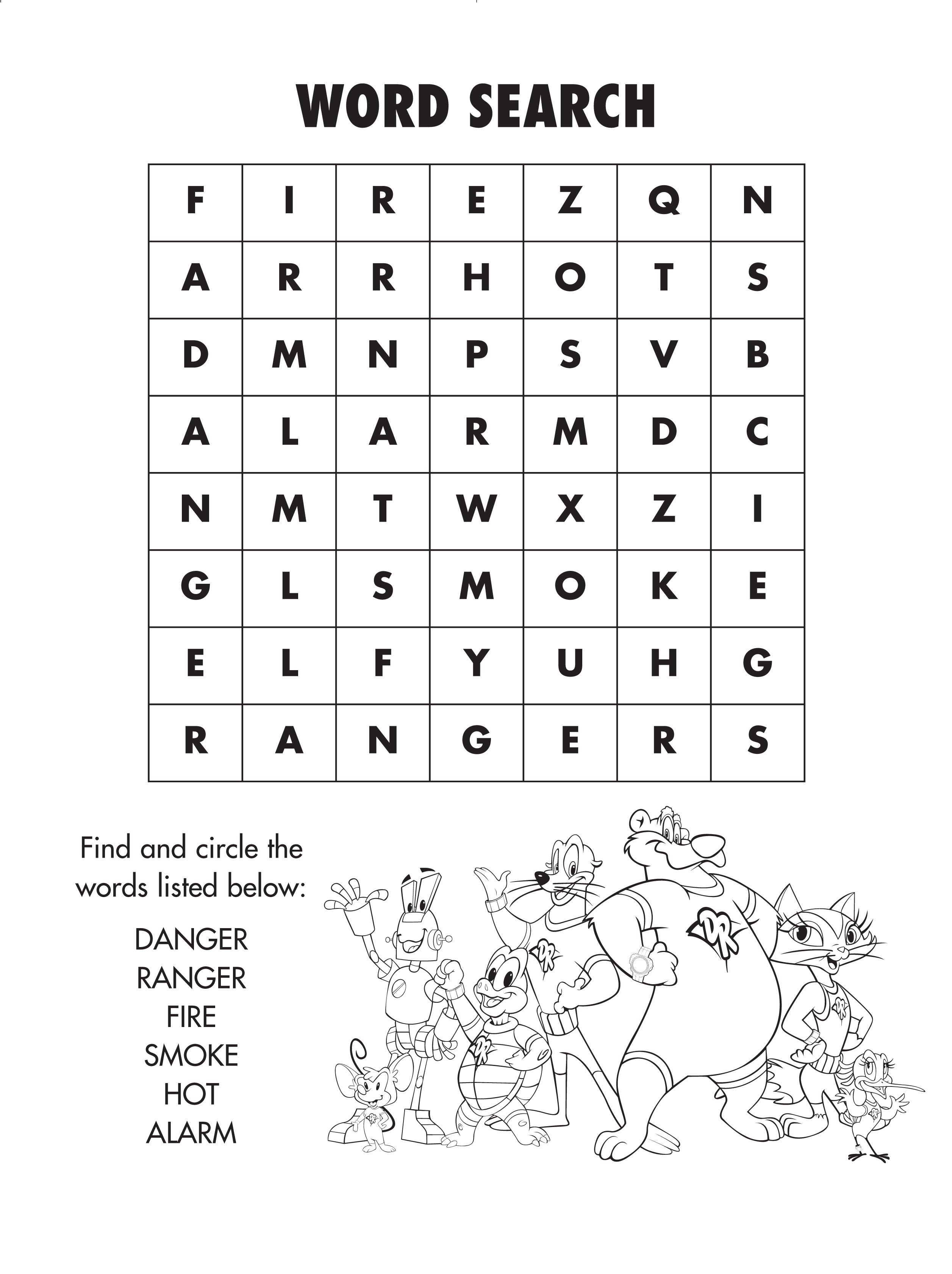 Firesafety Word Search! #freeprintable | Coloring And Activity - Fire Safety Crossword Puzzle Printable