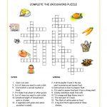 Food And Drink Crossword Worksheet   Free Esl Printable Worksheets   Printable Crossword Food