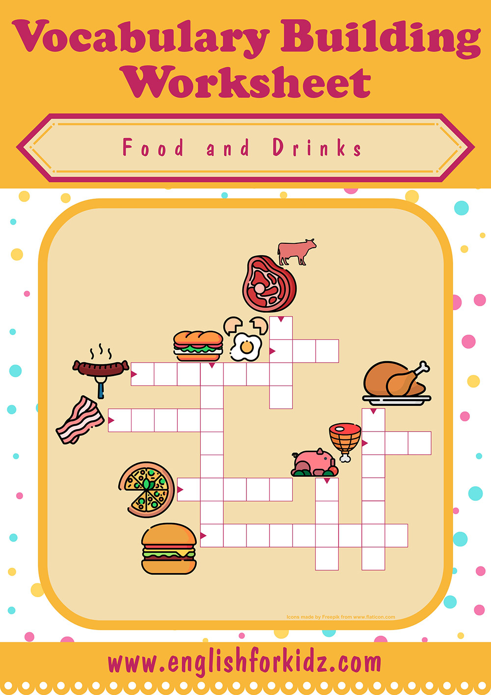 Food And Drinks Crossword Puzzles - Printable Crossword Puzzles May 2019