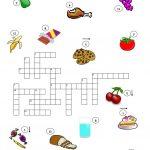 Food Crossword Puzzle Worksheet   Free Esl Printable Worksheets Made   Printable Crossword Food