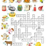 Food   Crossword Worksheet   Free Esl Printable Worksheets Made   Printable Crossword Esl