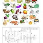 Food Crossword Worksheet   Free Esl Printable Worksheets Made   Printable Crossword Food