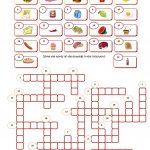 Food Crossword Worksheet   Free Esl Printable Worksheets Made   Printable Crosswords For Learning English
