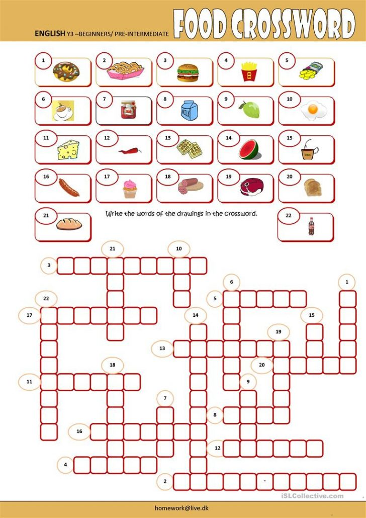 Printable Crosswords For Learning English