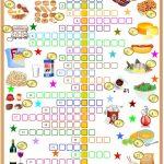 Food ,drinks And Groceries Crosswords Worksheet   Free Esl Printable   Printable Crossword Food
