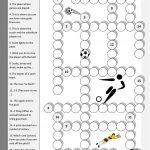 Football Crossword Worksheet   Free Esl Printable Worksheets Made   Football Crossword Puzzle Printable