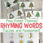 Forest Themed Printable Rhyming Puzzles For Kids   Printable Rhyming Puzzles