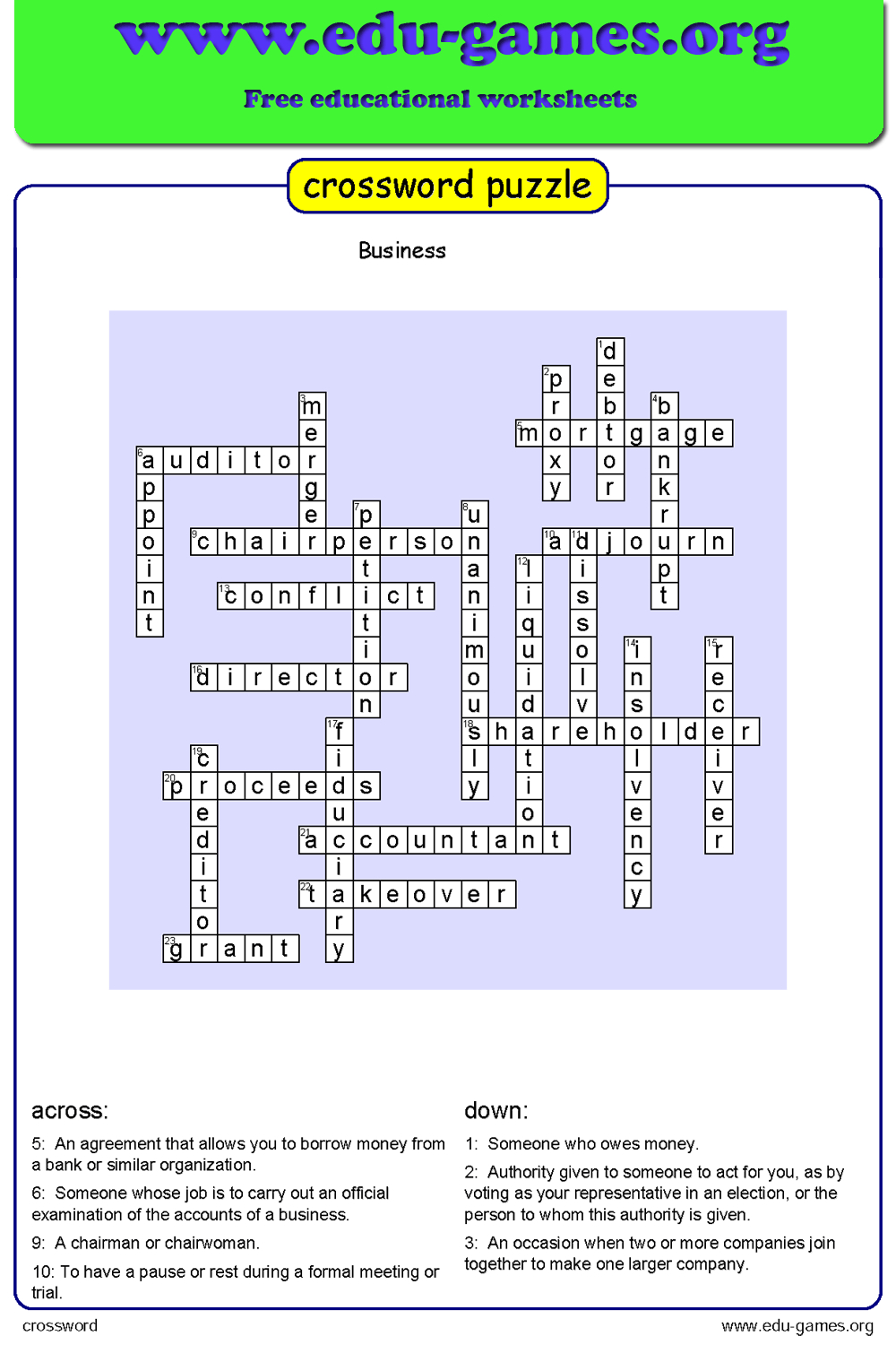 Free Crossword Maker For Kids - The Puzzle Maker Site - Create Your Own Crossword Puzzle Printable