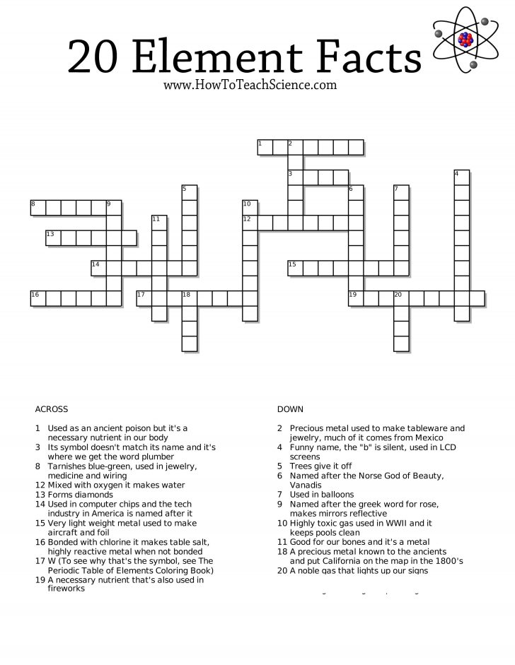 Free Printable Crossword Puzzles For 6Th Graders