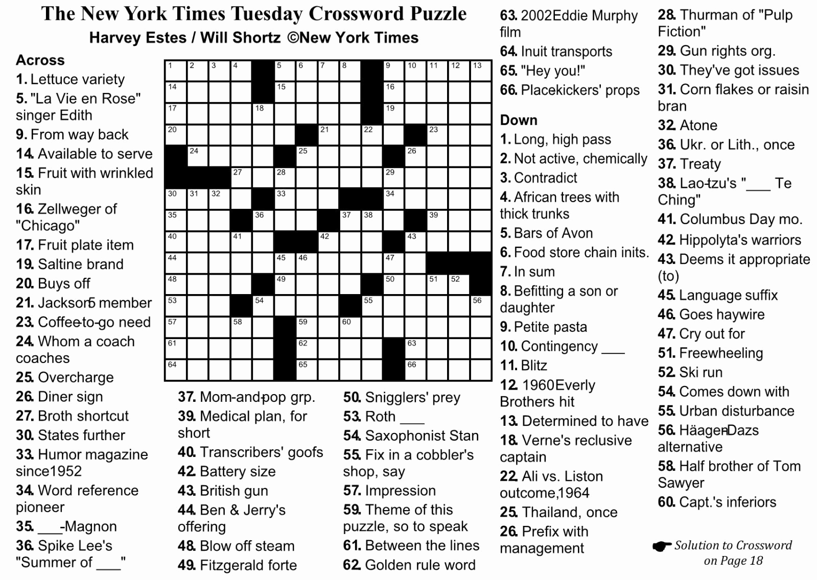 Free Crossword Puzzles Printable Or New York Times Crossword Puzzle - Printable Crossword Puzzle Maker