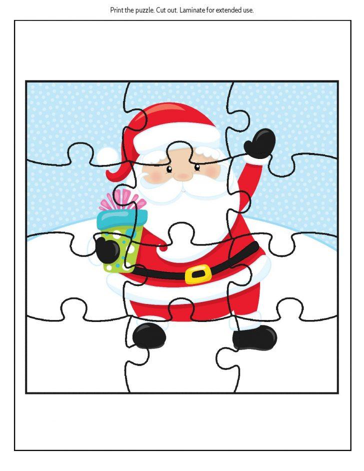 Printable Santa Puzzle