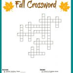 Free #fall Crossword Puzzle #printable Worksheet Available With And   Printable Elementary Crossword Puzzles