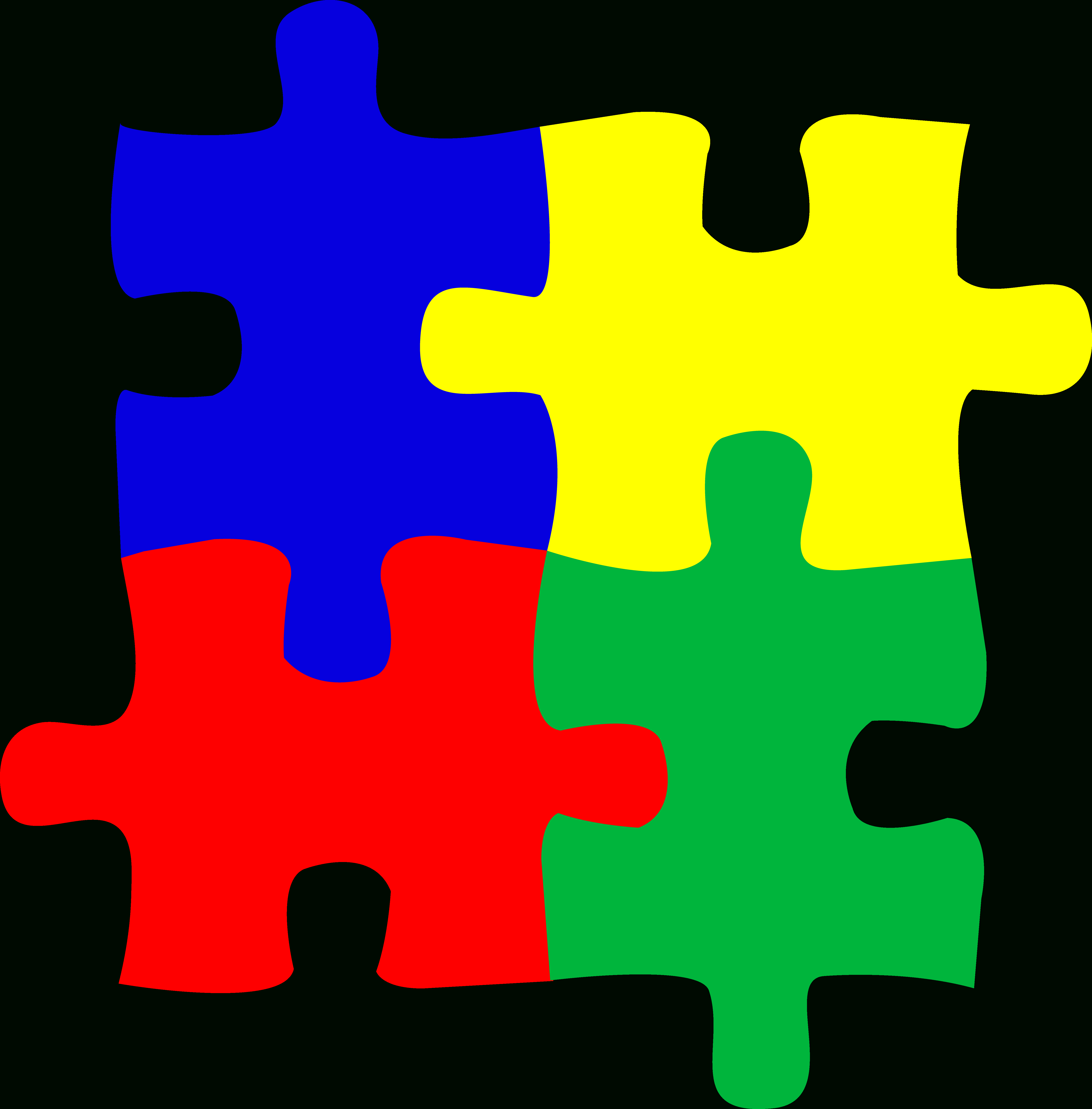 Free Jigsaw Puzzle Clipart, Download Free Clip Art, Free Clip Art On - 4 Piece Printable Puzzle