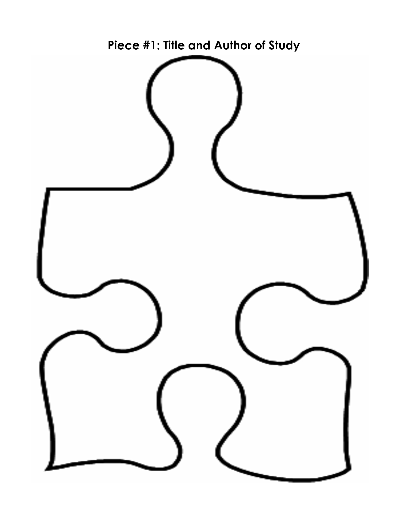 Free Large Puzzle Piece Template, Download Free Clip Art, Free Clip - Printable Puzzle Piece Coloring Pages
