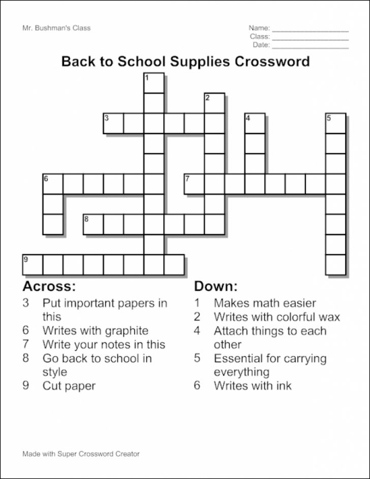 Make Your Own Crossword Puzzle Printable