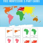 Free Montessori Printable 7 Continents Of The World 3 Part   7 Continents Printable Puzzle