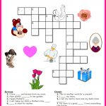 Free Mother's Day Crossword Puzzle Printable | Crafts For Kids   Printable Daily Puzzle