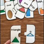 Free Printable 2D Shape Puzzles   Simply Kinder   Printable Matching Puzzle