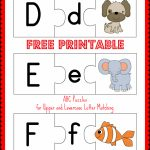 Free Printable Abc Puzzles | School Is Fun | Upper, Lowercase   Printable Matching Puzzle