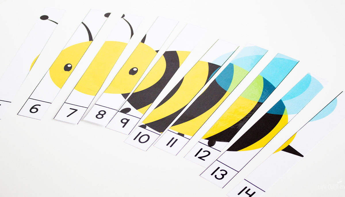 Free Printable Bug Counting Puzzles - Life Over Cs - Printable Bug Puzzles