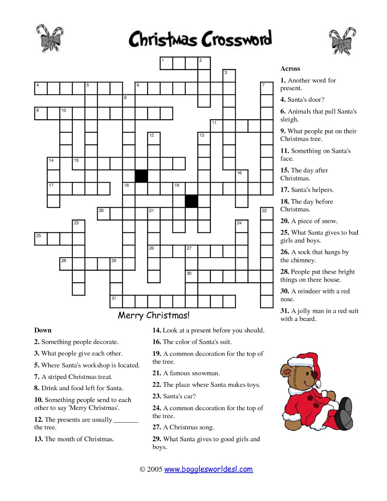Free Printable Cards: Free Printable Crossword Puzzles | Printables - Printable Crosswords For 13 Year Olds