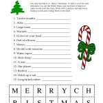 Free Printable Christmas Word Games Puzzles – Festival Collections   Christmas Printable Puzzles Games