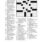 Free Printable Crossword Puzzles For Adults | Puzzles-Word Searches – Printable Crossword Puzzles Best
