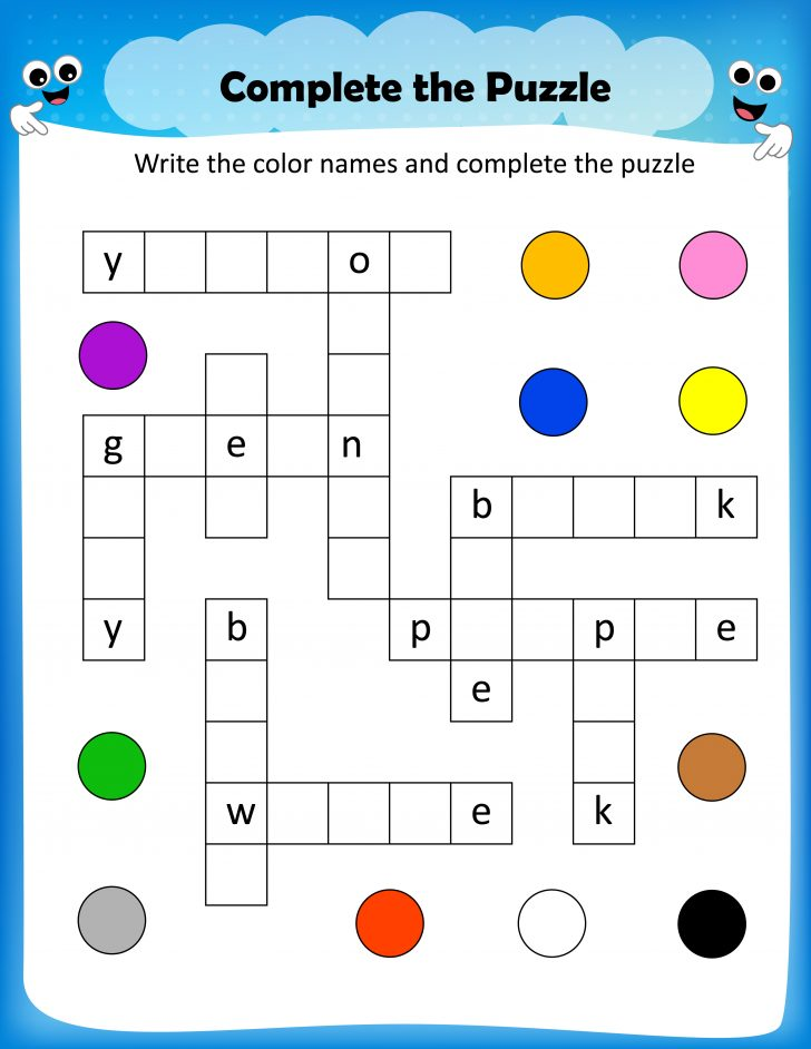 Free Printable Crossword Puzzles For Elementary Students