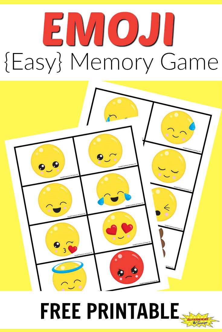 Free Printable Emoji Memory Game For Kids   After School Activities - Printable Emoji Puzzles