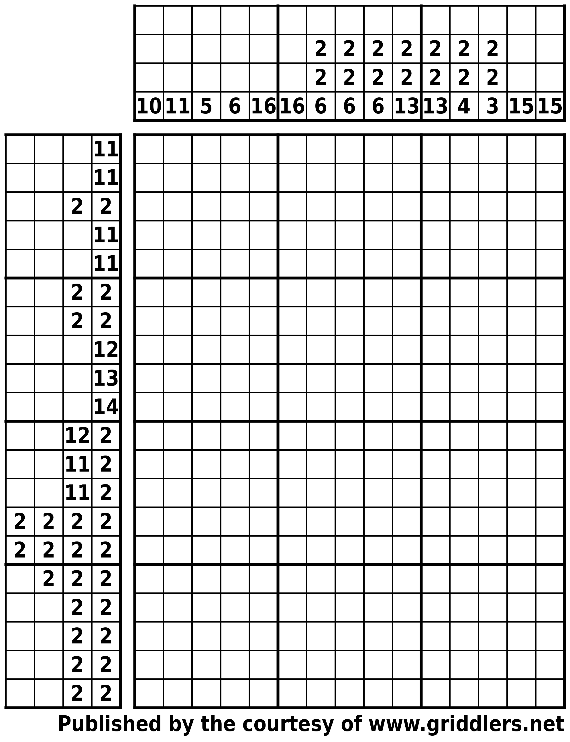 Free Printable Griddlers - Griddlers - Printable Picross Puzzles