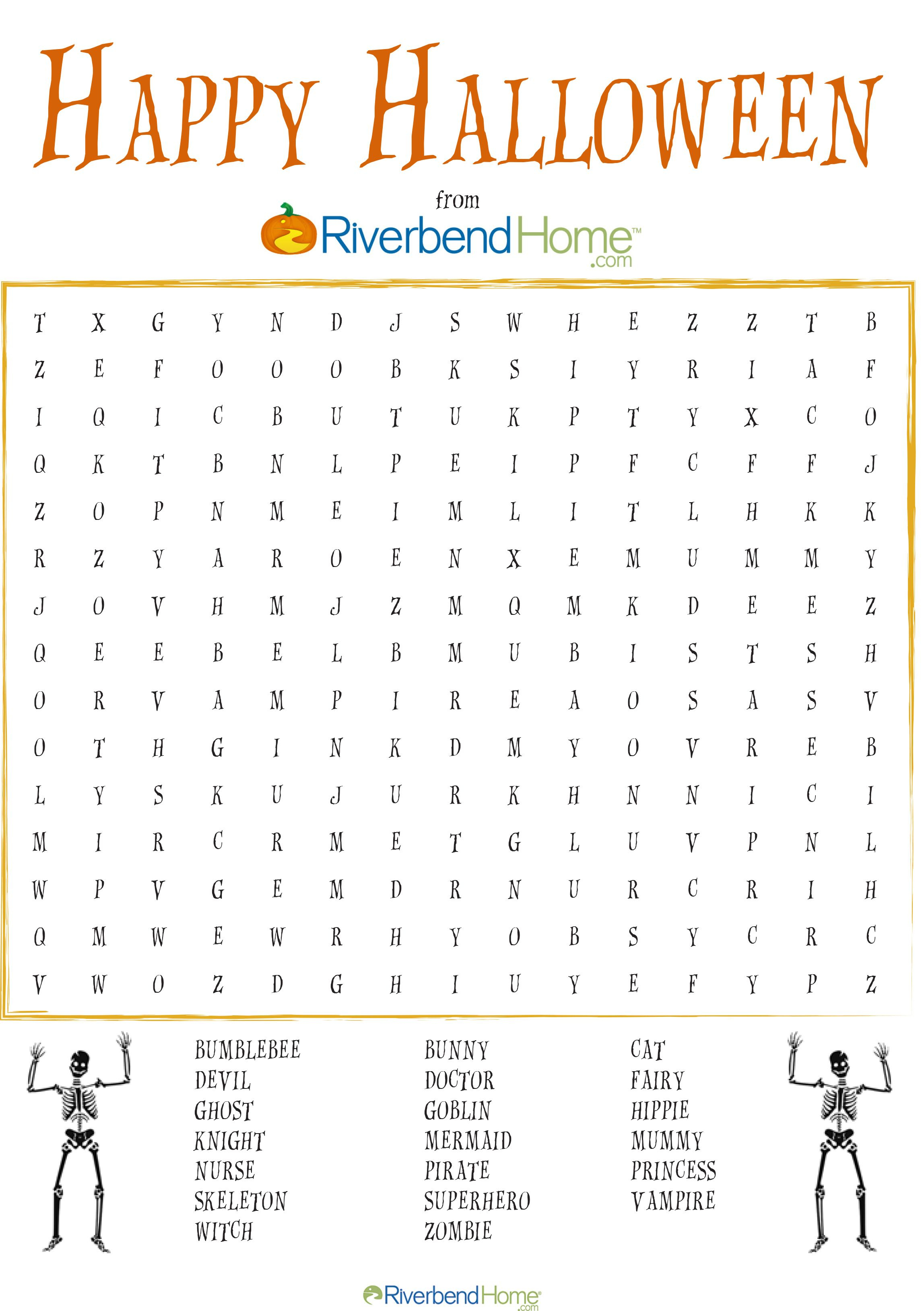 Free Printable Halloween Word Search Puzzle | Halloween | Halloween - Printable Halloween Crossword Puzzles Word Searches