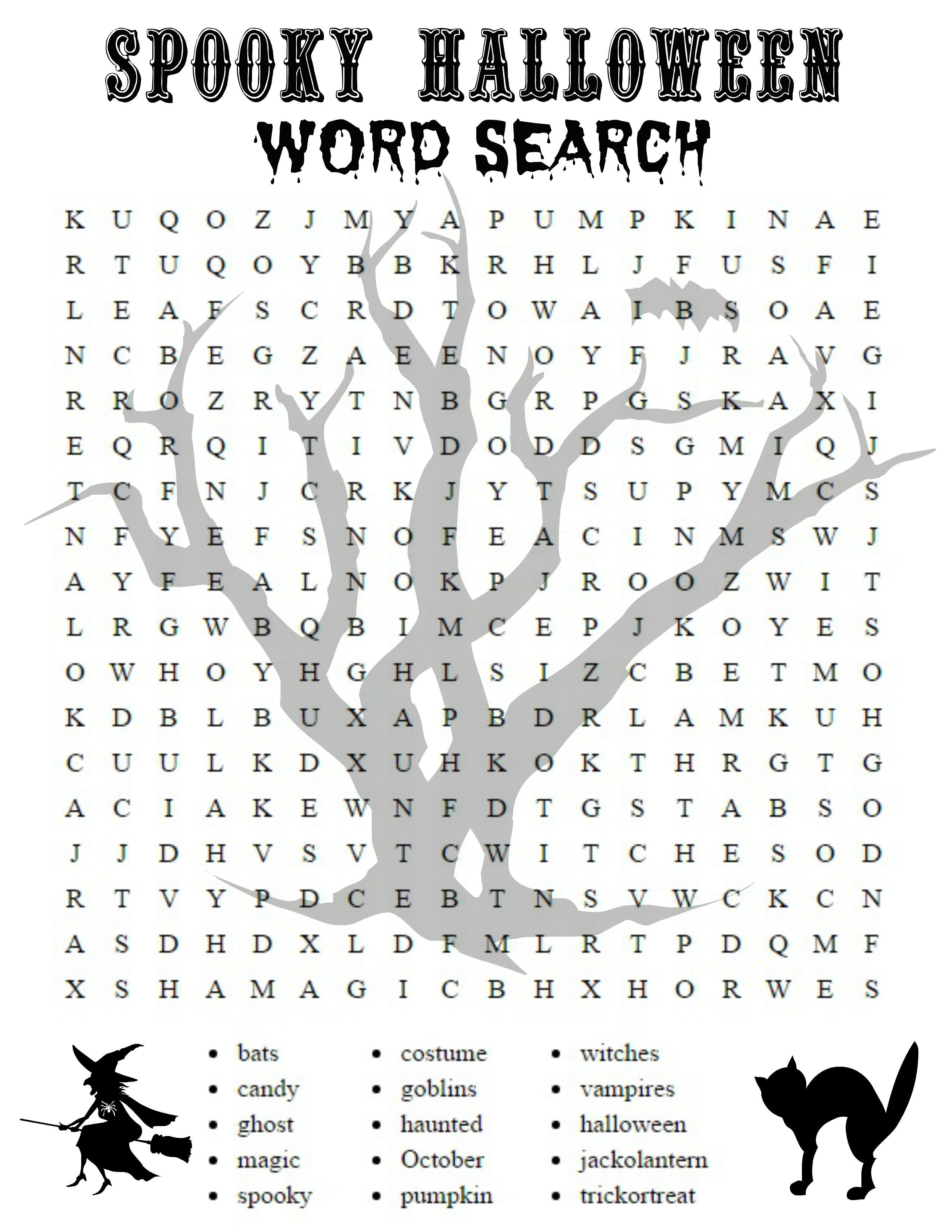 Free Printable Halloween Word Search Puzzles | Free Printables - Halloween Crossword Puzzles For Adults Printable