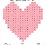 Free Printable Heart Shaped Valentine's Day Word Search For Kids   Free Printable Valentines Crossword