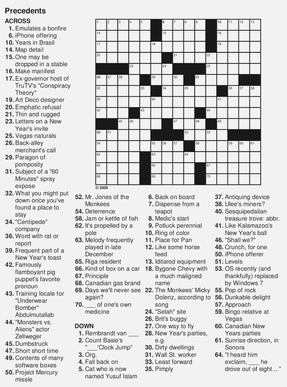 Free Printable Large Print Crossword Puzzles | M3U8 - Large Print Crossword Puzzles Printable