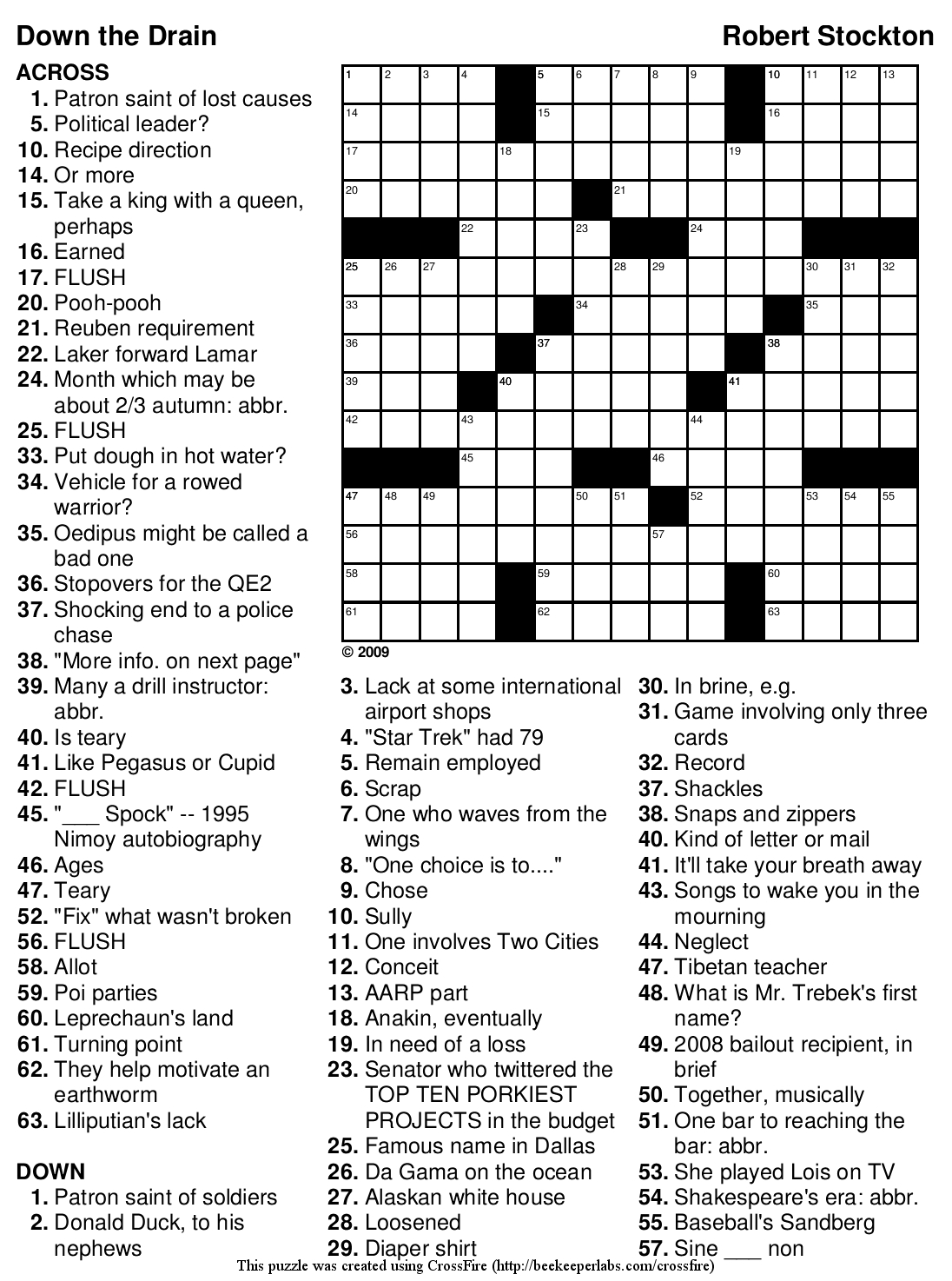 Free Printable Large Print Crossword Puzzles | M3U8 - Printable Crossword Puzzles For Adults Large Print