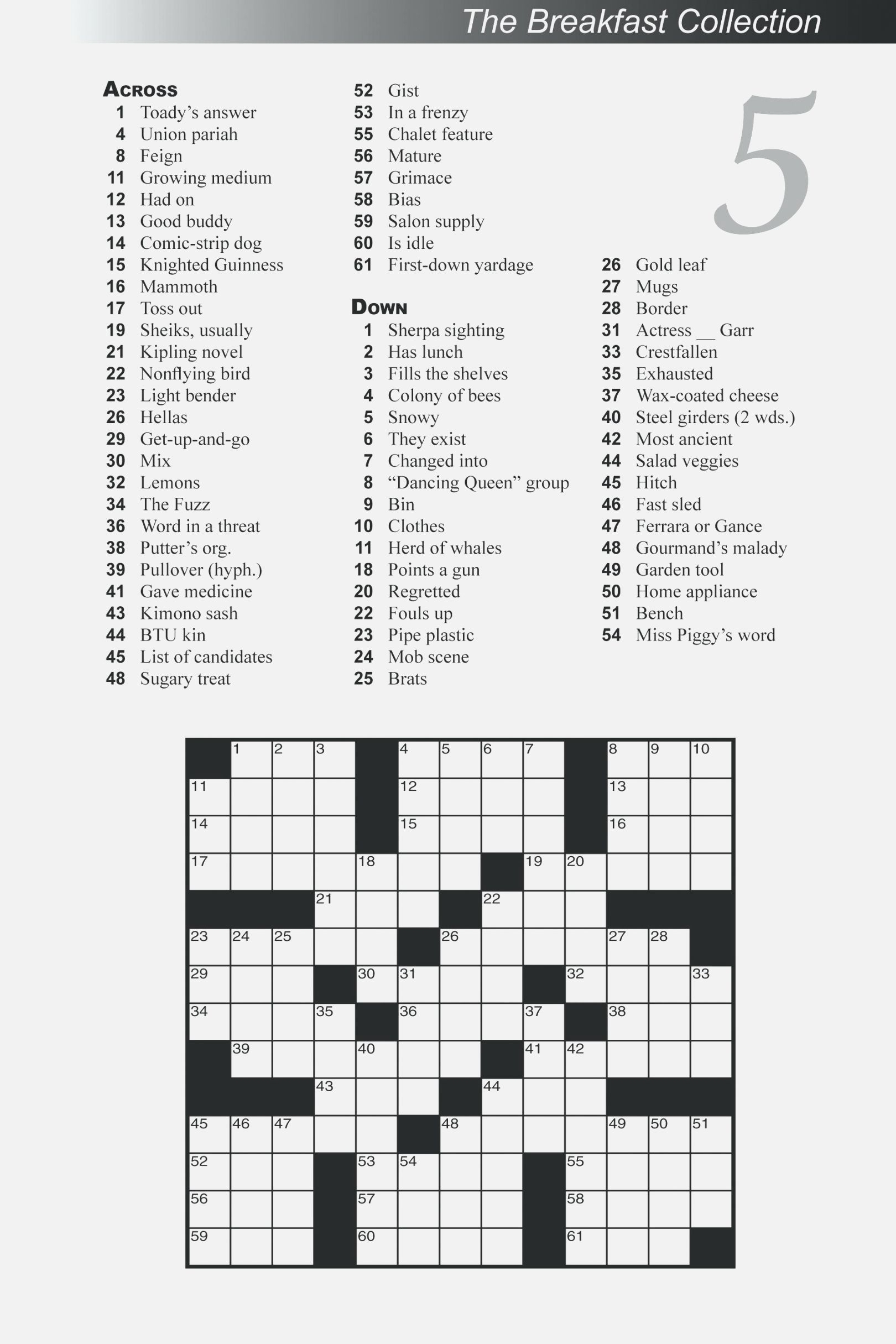 Free Printable Large Print Crossword Puzzles | M3U8 - Printable Garden Crosswords
