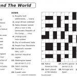 Free Printable Large Print Crossword Puzzles | M3U8   Printable Japanese Puzzles