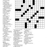 Free Printable Large Print Crossword Puzzles | M3U8   Simple Crossword Puzzles Printable Pdf
