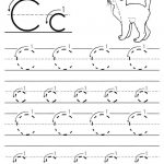 Free Printable Letter C Tracing Worksheet With Number And Arrow   Letter C Puzzle Printable