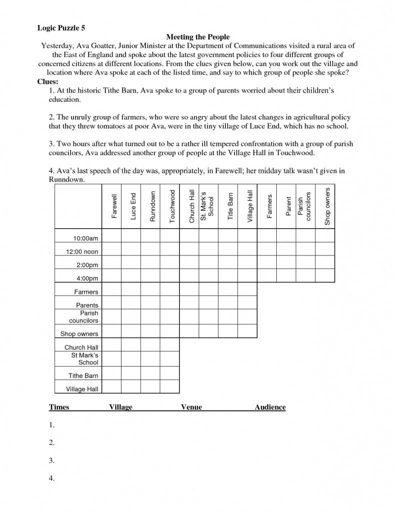 Free Printable Logic Puzzles | Free Printables - Printable Logic Puzzles Uk