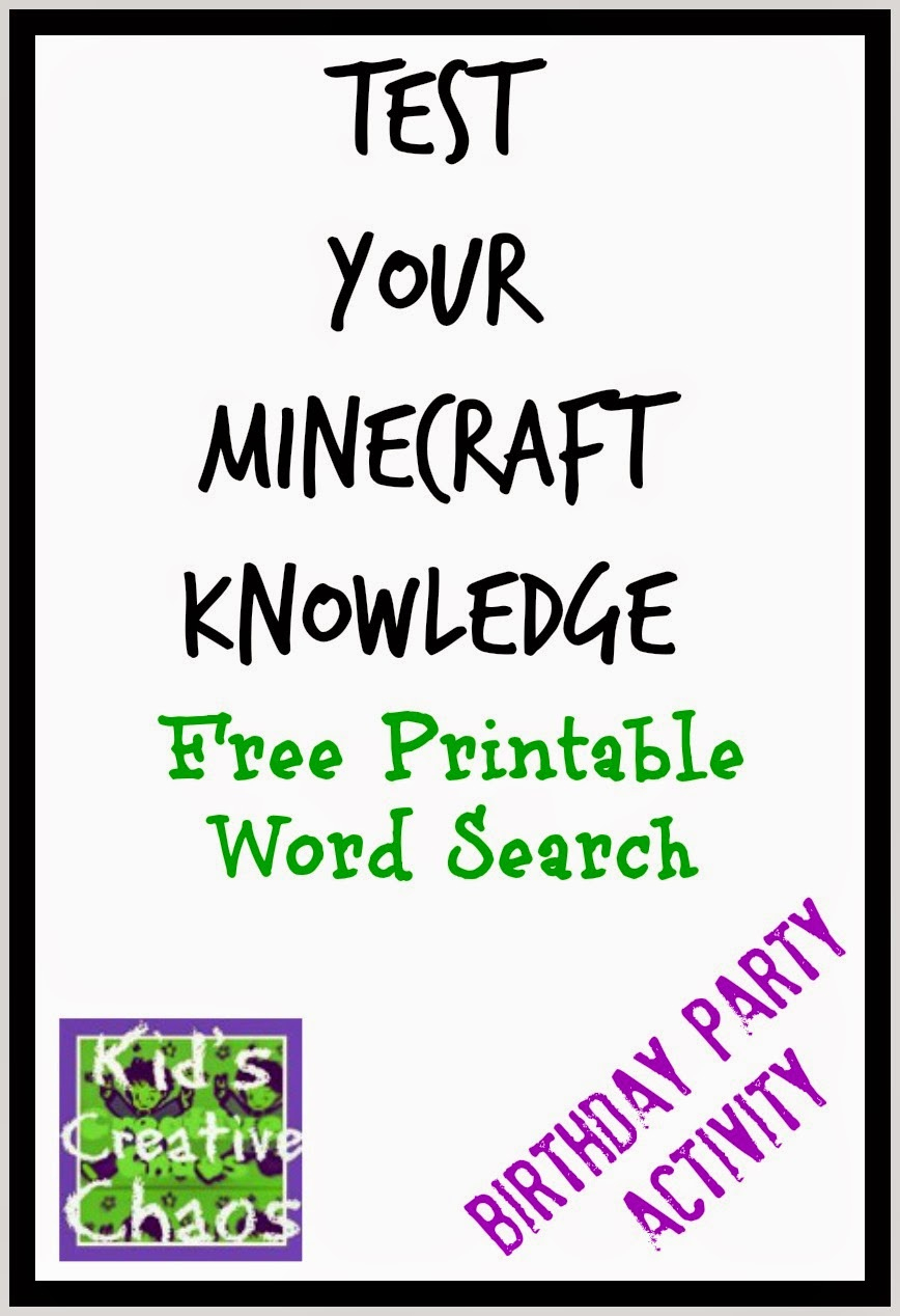 Free Printable Minecraft Crossword Search: Test Your Minecraft - Printable Buzzword Puzzles
