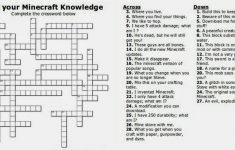 Free Printable Minecraft Crossword Search: Test Your Minecraft – Printable Buzzword Puzzles