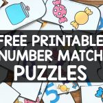 Free Printable Number Match Puzzles   Simply Kinder   Printable Matching Puzzle