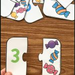 Free Printable Number Match Puzzles   Simply Kinder   Printable Puzzles Preschool