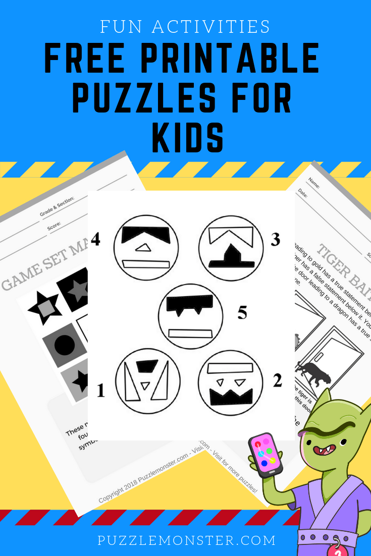 Free Printable Puzzles For Kids - Logic Puzzles And Brain Games - Printable Puzzles For Gifted Students