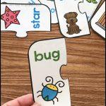 Free Printable Rhyming Puzzles   Simply Kinder   Printable Puzzles Kindergarten