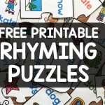 Free Printable Rhyming Puzzles   Simply Kinder   Printable Rhyming Puzzles