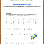 Free Printable Secret Code Word Puzzle For Kids. This Puzzle Has A   Printable Puzzles For 5 Year Olds