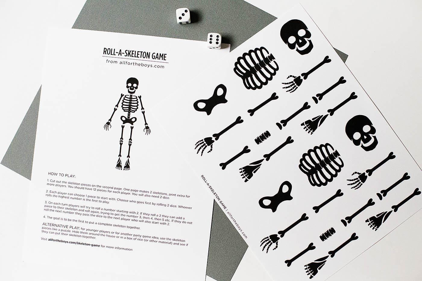 image about Free Printable Skeleton known as Totally free Printable Skeleton Activity All For The Boys - Printable